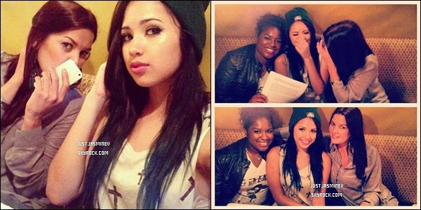 _ 10 Juin - Jasmine a pass� l'apr�s-midi en studio avec sa manager Gabbi. Elle a officielement sign� avec Ester Dean pour le label interscope. _