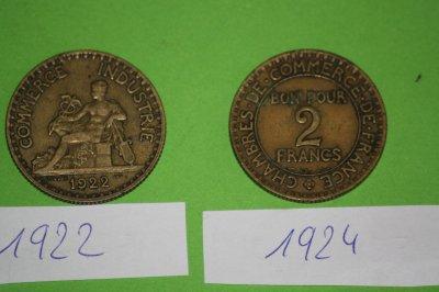 Bon pour 2 francs commerce industrie 1922 et 1924 et une for Bon pour 2 francs 1925 chambre commerce